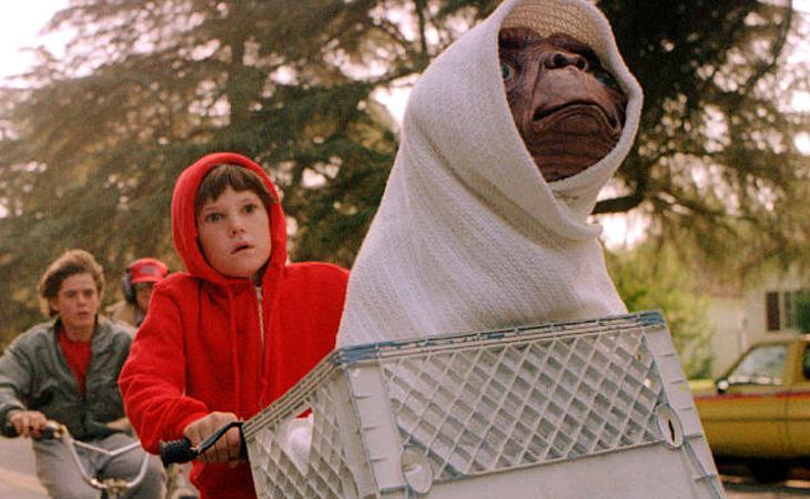 E.T fue la película más taquillera del momento