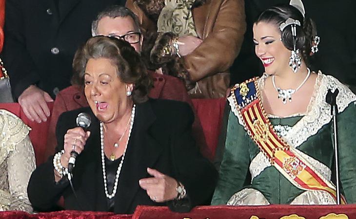 Rita Barberá en el discurso de Fallas de 2015