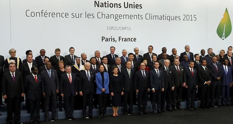 Los líderes mundiales se reunieron el año pasado en la Cumbre del Clima en París