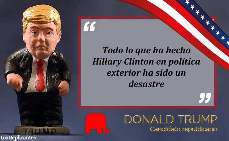 A Donald no le gusta la política exterior de Clinton