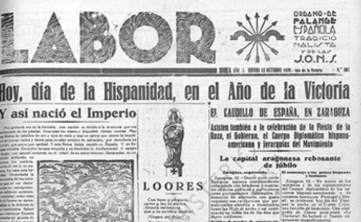 La prensa de la época asociaba la conquista de América con la victoria en la Guerra Civil