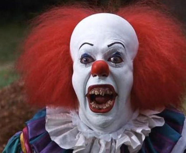 Pennywise, protagonista de IT, de Stephen King