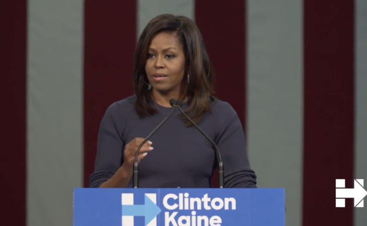 Michelle ha querido dedicarle unas palabras a Trump