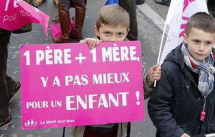 Marchas en París para pedir la abolición del matrimonio homosexual