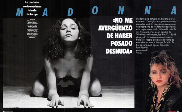 Primera vez que Madonna posó desnuda oara Interviú