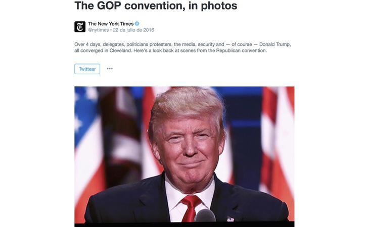 Ejemplo de uno de los 'Momentos' del New York Times, una galería de fotos