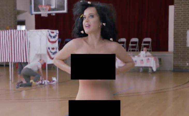 Katy Perry pedía el voto masivo desnudándose después del debate presidencial
