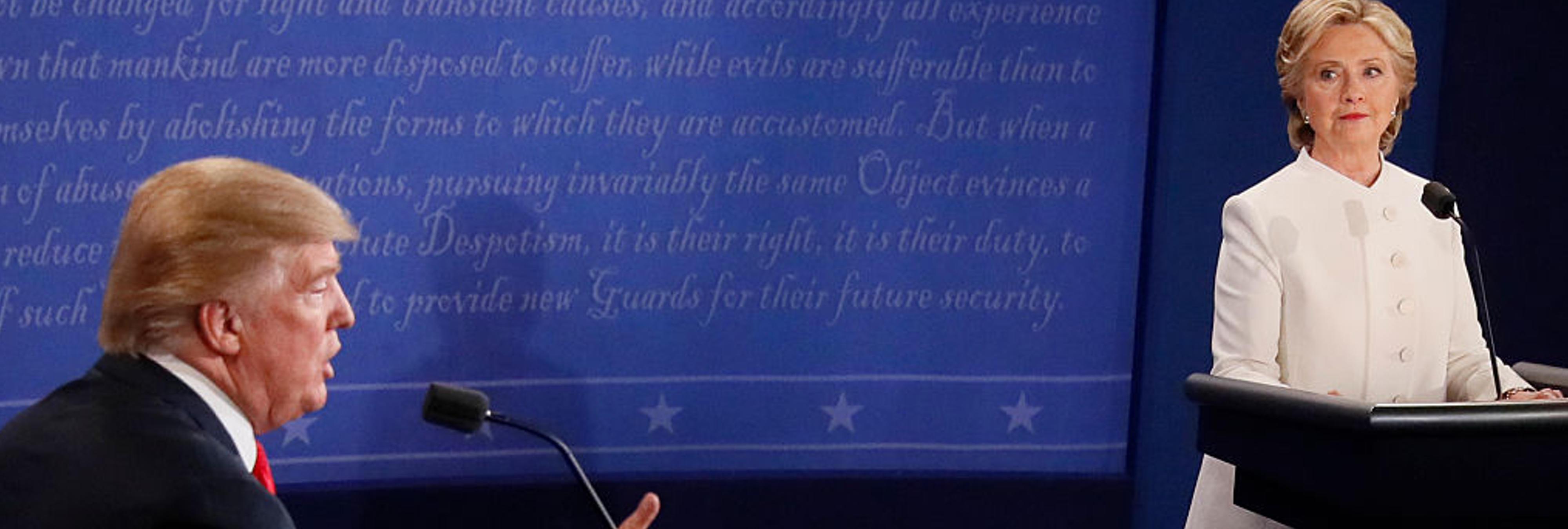 El tercer debate Trump-Clinton, en 20 contundentes frases