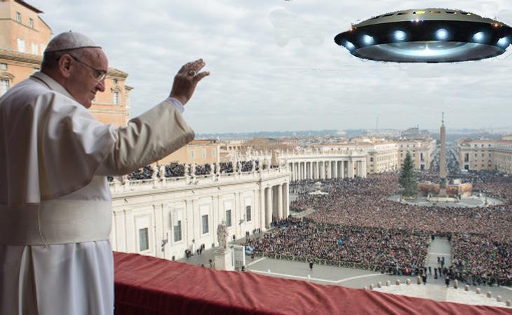 El Papa tiene buena relación con los extraterrestres