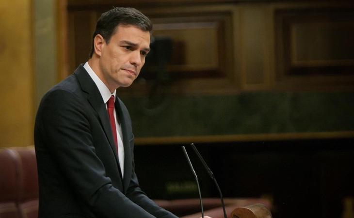 Pedro Sánchez durante su discurso de investidura (Europa Press)