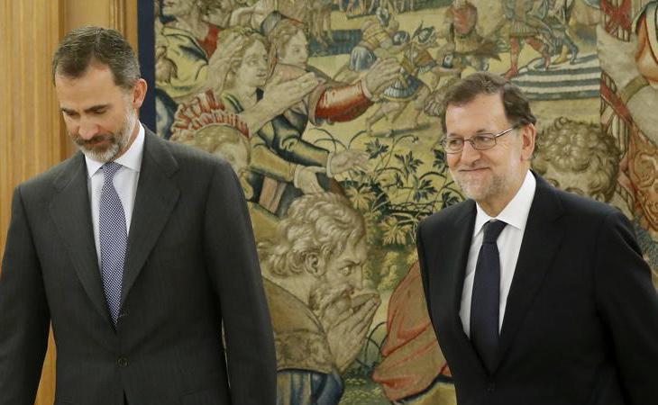 Rajoy se ha reunido con el Rey y ha aceptado el encargo de someterse a la investidura