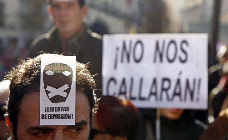 Imagen de una de las manifestaciones contra la Ley Mordaza