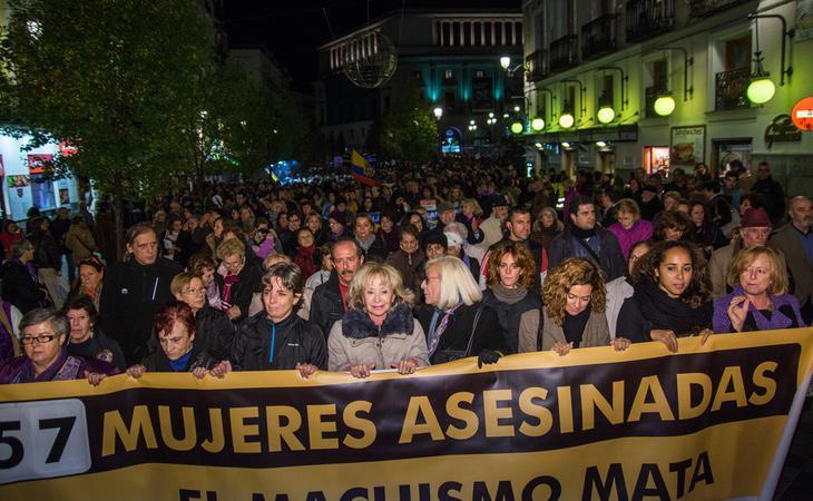 Manifestación en Madrid en contra de la violencia de género