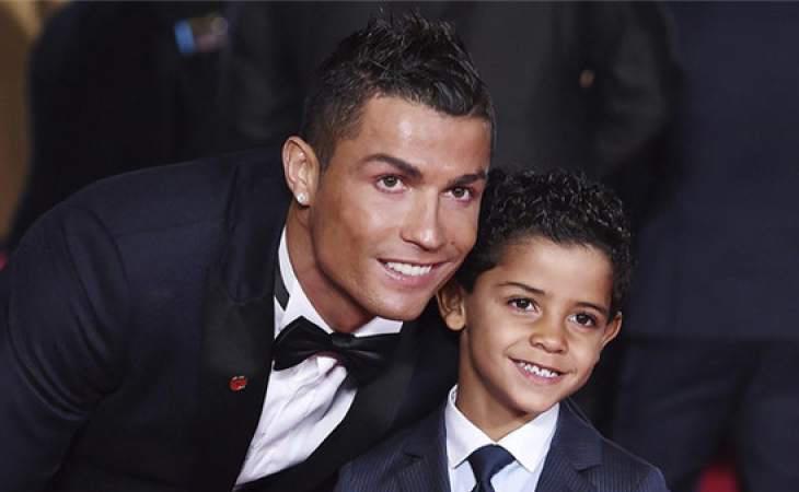 Cristiano con su hijo, Cristiano Ronaldo Jr.