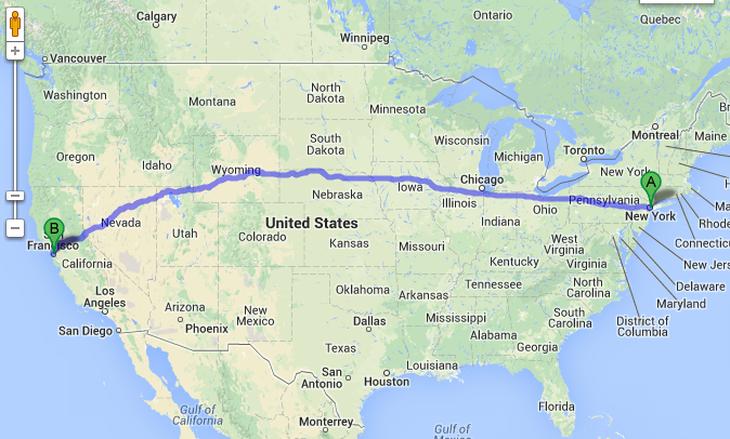 De Nueva York a San Francisco: Más de 4.500 km en los que el conductor no tendría que hacer nada