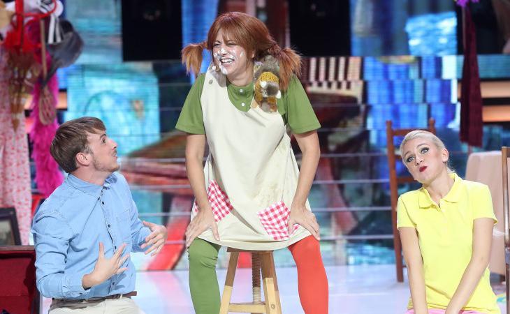 Yolanda Ramos nos devolvió a la infancia imitando a Pippi