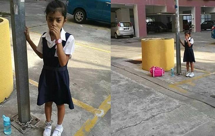 La pequeña se encontraba muy afectada y con lágrimas en los ojos
