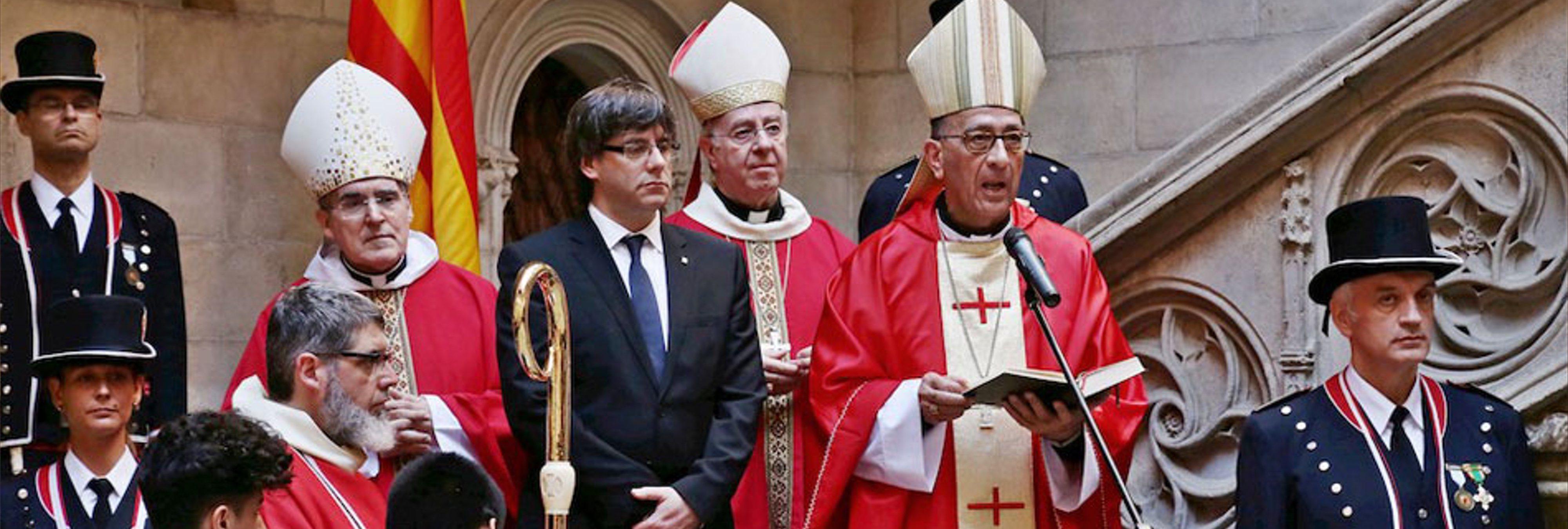 """Una iglesia catalana compara Puigdemont con Moisés: """"Dios le llama para liberar su pueblo"""""""