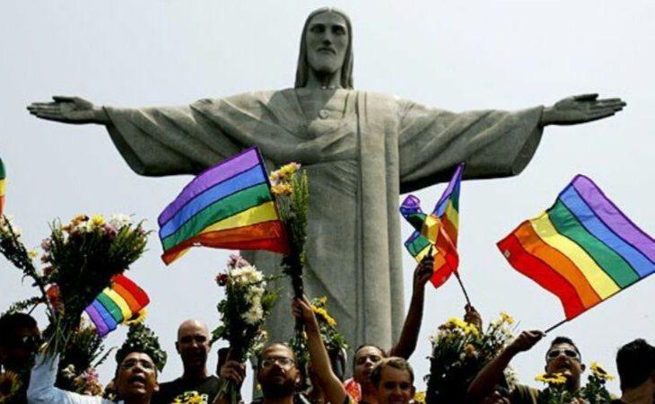 Manifestación por derechos LGTBI en Brasil