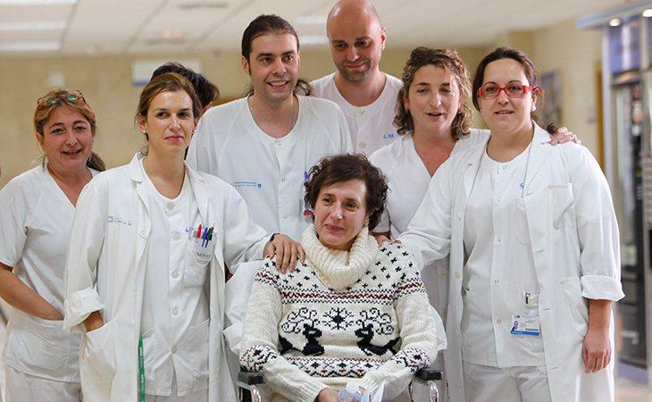 Teresa está muy agradecida con los compañeros que le cuidaron y salvaron la vida
