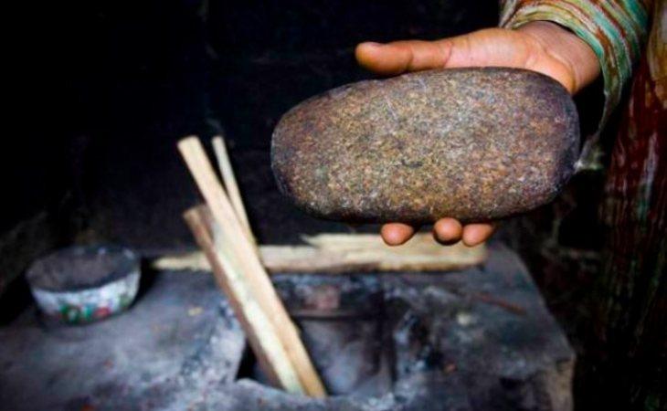 Una piedra utilizada para el planchado de senos