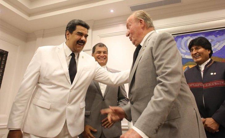 El Rey Juan Carlos ha abandonado sus rencillas con Nicolás Maduro