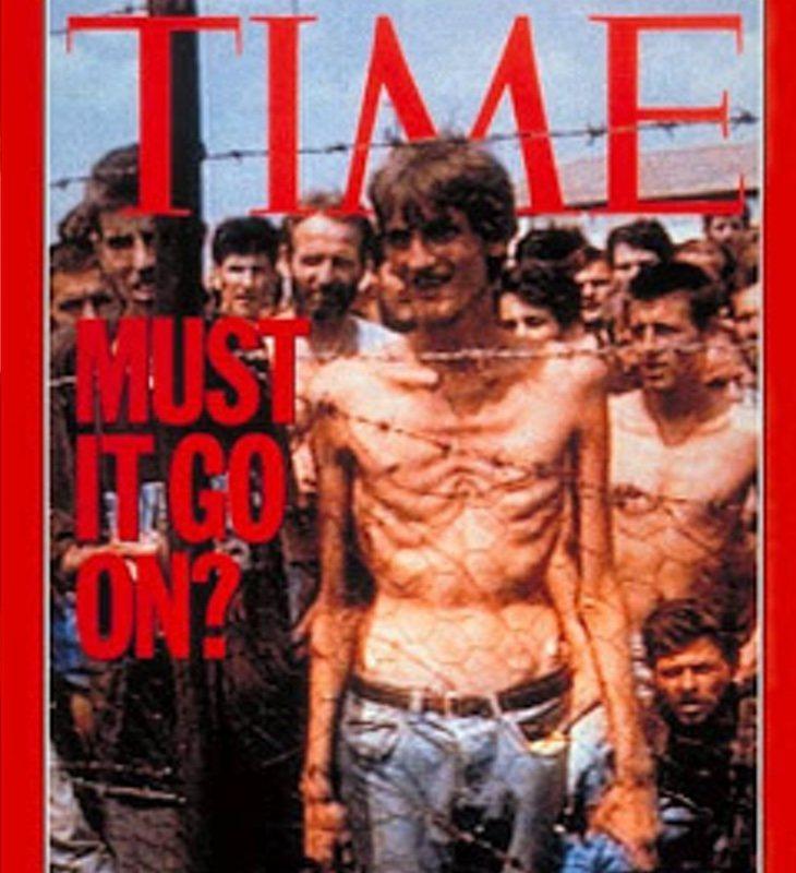 La revista Time ilustró en una portada de 1992 la vida en los campos de concentración serbios en Bosnia