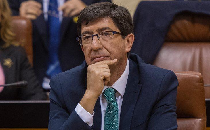 Juan Marín (Ciudadanos) protagoniza el discurso más comedido del debate de investidura