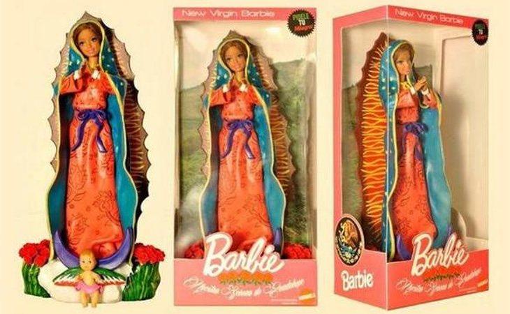 Barbie ha sido caracterizada como la virgen María en el museo de Haifa