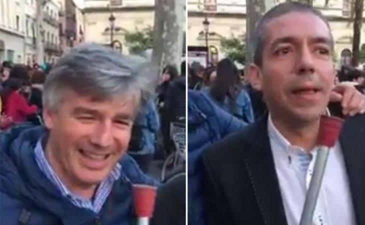 Los encausados se grabaron insultando a las manifestantes