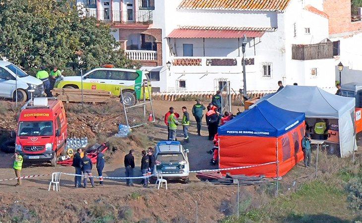 Julen se cayó en un pozo de de una finca no vallada en Tumba del Moro, Málaga