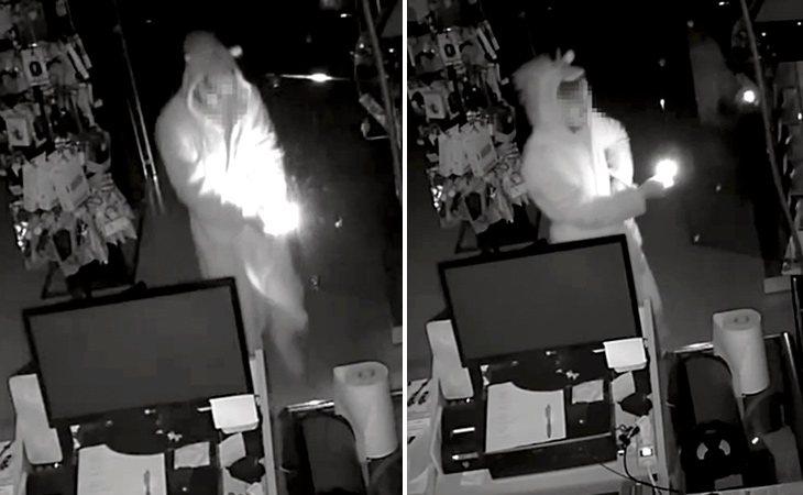 Las cámaras de seguridad captaron al 'ladrón-unicornio' robando | Diario Sur