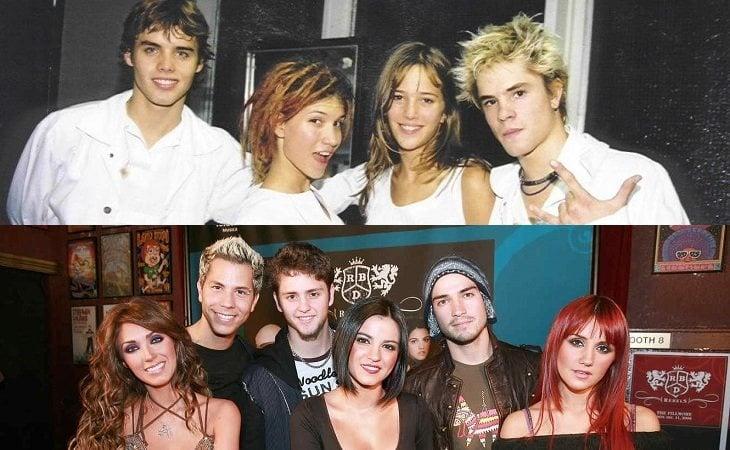 Erreway (arriba) y RBD (abajo)