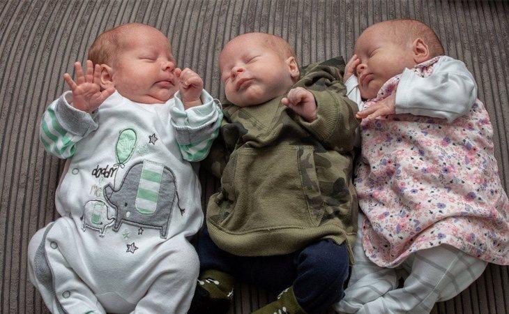 Borys, Mtylda y Amelia son los tres bebés que ha dado a luz Betania Bieias