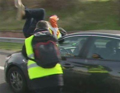 El taxista que se lanzó contra un VTC se encuentra en coma inducido