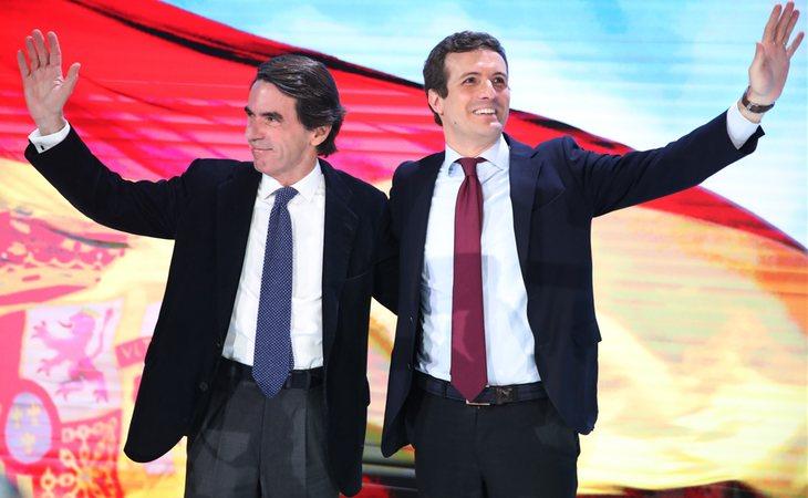 José María Aznar y Pablo Casado en la Convención Nacional del PP