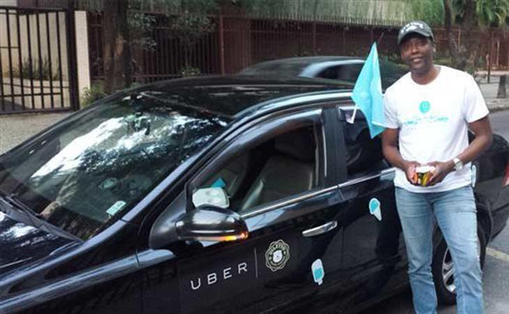 Conductor de Uber en Brasil