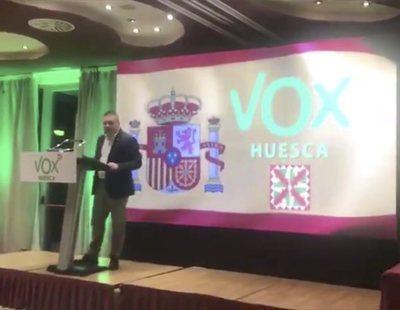 """El líder de VOX en Huesca: """"Vamos a quitar la bandera de los gays, estas cosas, en casa"""""""