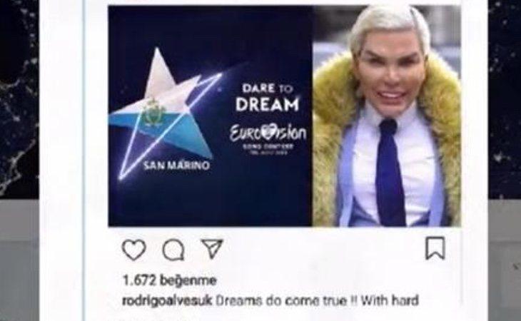 Así ha confirmado en Instagram los rumores sobre Eurovisión
