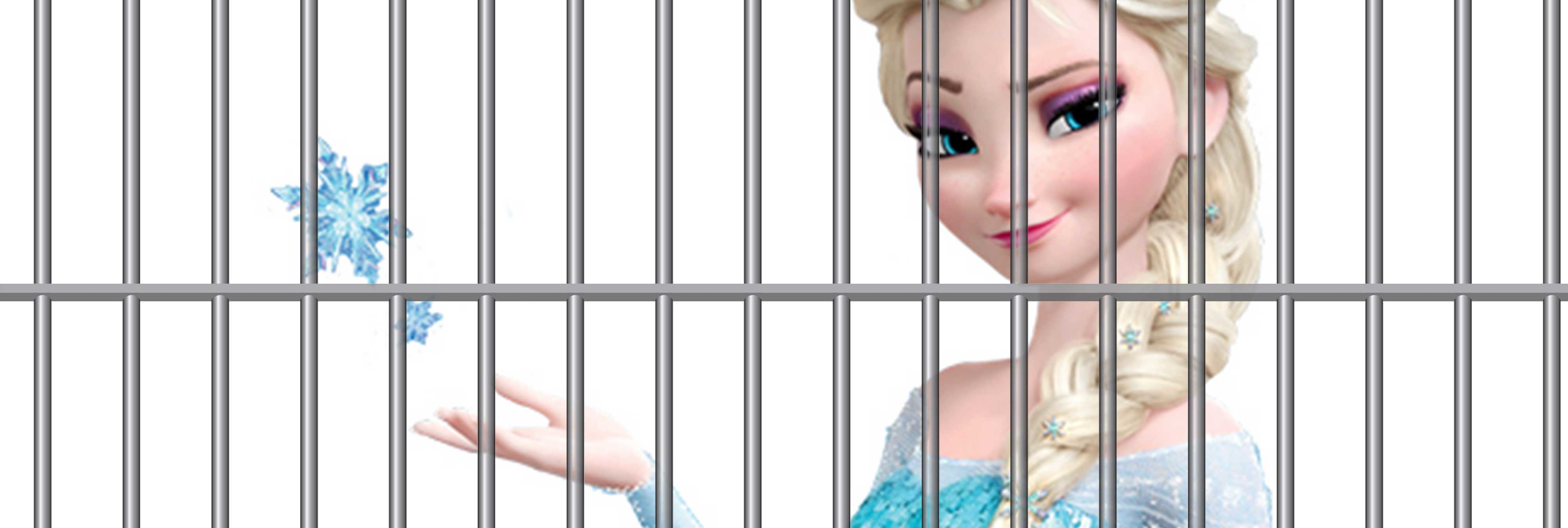 La policía la lía tras compartir fotos de Elsa de 'Frozen' detenida por el frío de EEUU
