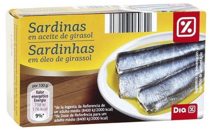 Las latas de sardinas de la marca DIA han sido retiradas