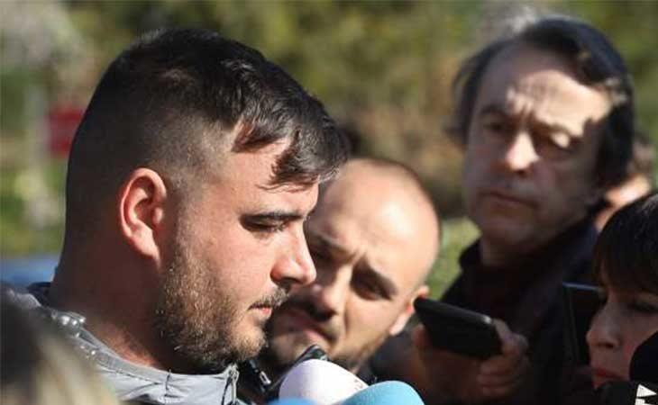 José Roselló, hablando con los medios durante el rescate