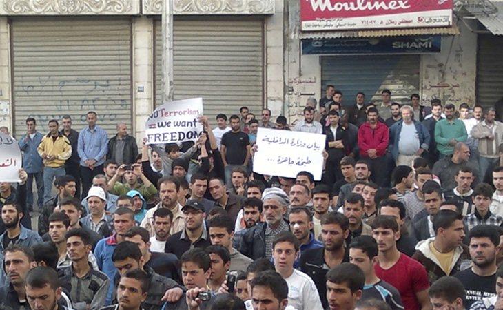 Siria vivió toda una oleada de protestas en los meses previos al inicio de la guerra civil
