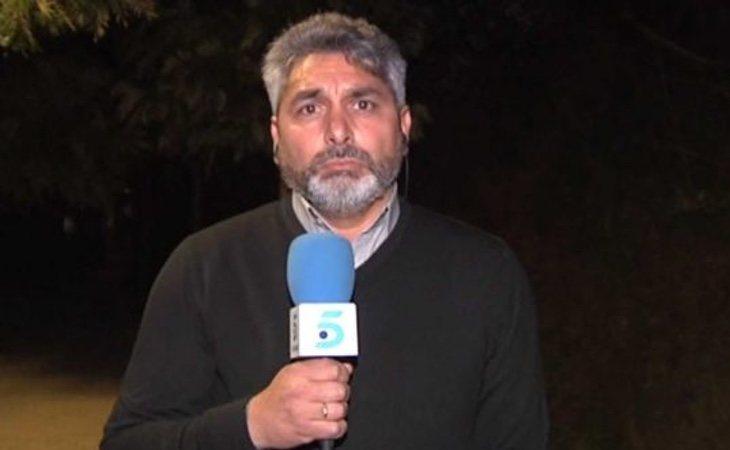 Cortés en una conexión con Mediaset