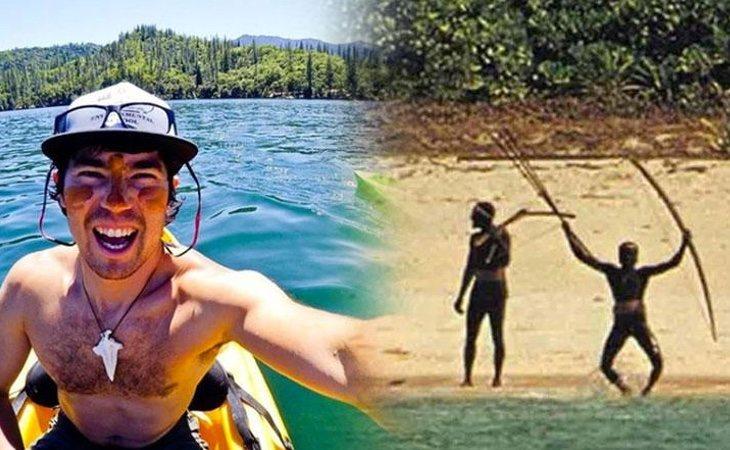 El turista fallecido y una de las únicas fotos que se tienen de la población