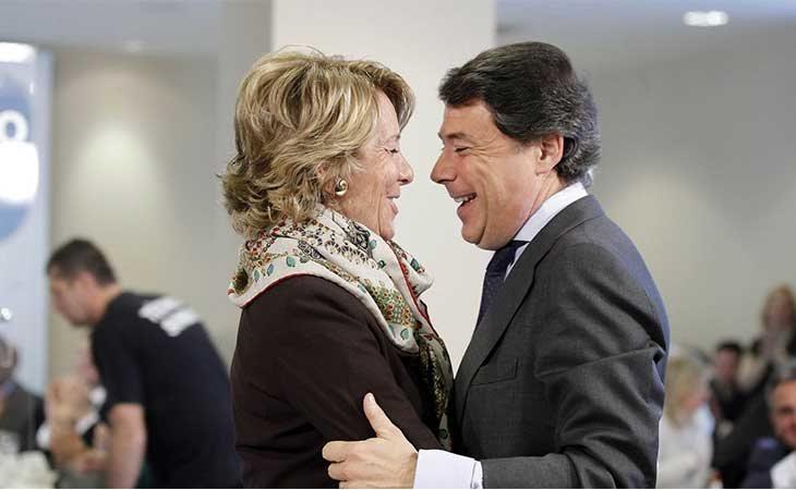Esperanza Aguirre y su delfín Ignacio Gonzalez