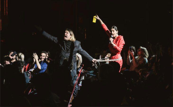Brays Efe y Julieta de Castro en 'De repente' en el Teatro Lara