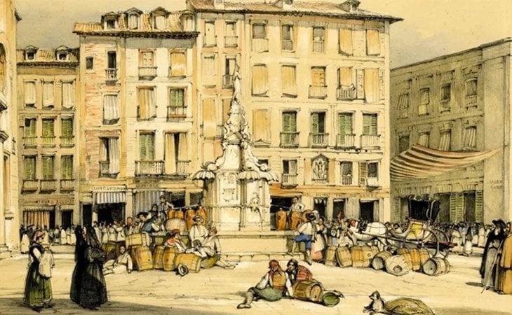 La Puerta del Sol, Madrid (1833-1835) | British Museum