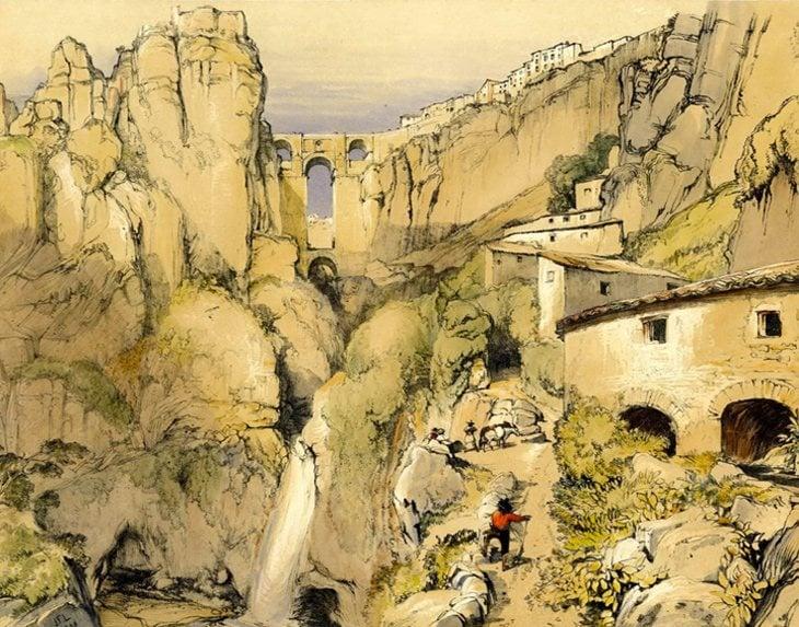 Ronda, Málaga (1832) | British Museum