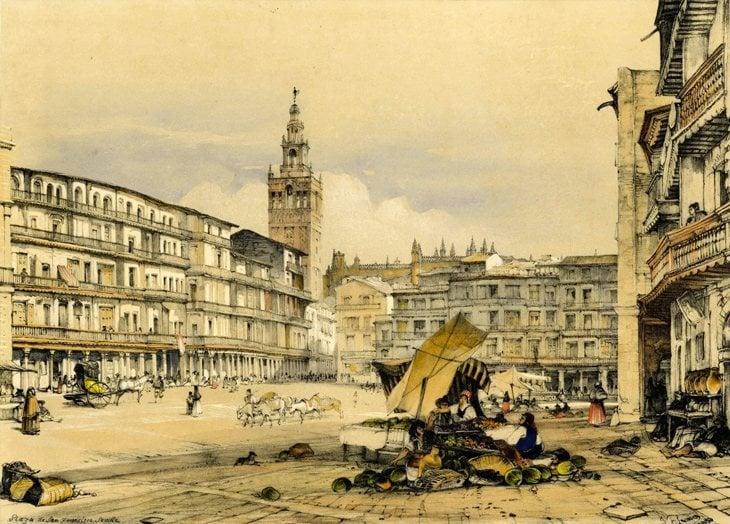Plaza de San Francisco, Sevilla (1836) | British Museum